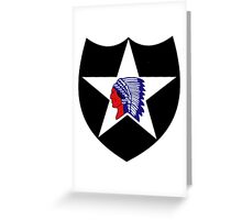 Logo of the Second Infantry Division, U. S. Army Greeting Card