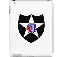 Logo of the Second Infantry Division, U. S. Army iPad Case/Skin