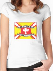 Mobile Infantry Flag Women's Fitted Scoop T-Shirt
