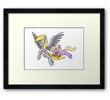 Derpy and Dinky [Transparent BG] Framed Print