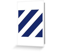 Logo of the 3rd Infantry Division, U. S. Army Greeting Card