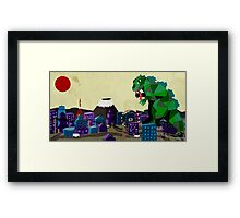 Godzil Lunch Framed Print