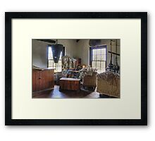 Sailmakers workplace at Flagstaff Hill Maritime Village Framed Print