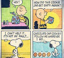 snoopy cookie strip by awais sohail