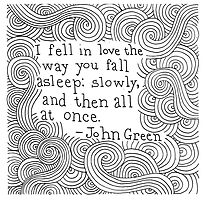 I fell in love the way you fall asleep - John Green by YakArt
