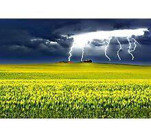 Lightning of Ruin Photographic Print