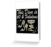 SILVER SPARKLING 60 AND FABULOUS Greeting Card