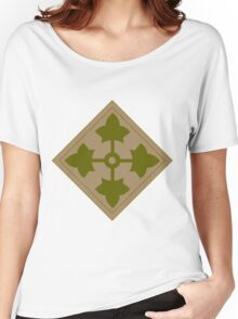 Logo of the Fourth Infantry Division, U. S. Army Women's Relaxed Fit T-Shirt