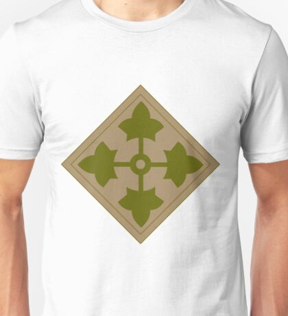 Logo of the Fourth Infantry Division, U. S. Army Unisex T-Shirt
