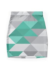 Mercedes AMG Petronas F1 Geometric Print Mini Skirt