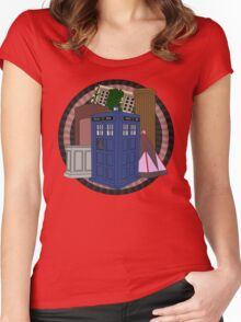 The Forgotten TARDISes Women's Fitted Scoop T-Shirt