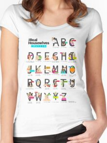 The Real Housewives Alphabet T-Shirt Women's Fitted Scoop T-Shirt