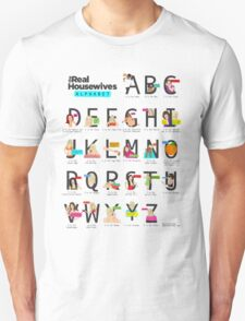 The Real Housewives Alphabet T-Shirt T-Shirt