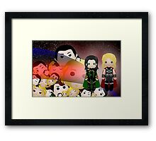 Tsum Tsums with Thor and Loki Framed Print