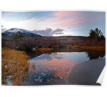 Autumn sunset in Colorado Poster