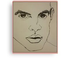 Brendon Urie Line Drawing Canvas Print
