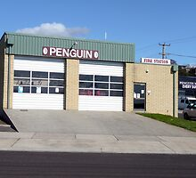 Fire station, Penguin, Tasmania by Margaret  Hyde