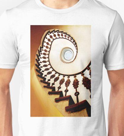 Spiral stairs in warm tones Unisex T-Shirt