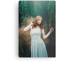 Beautiful girl red hair fantasy elven girl Metal Print