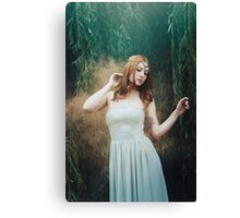 Beautiful girl red hair fantasy elven girl Canvas Print