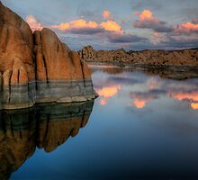 Cliffs and Clouds by Bob Larson