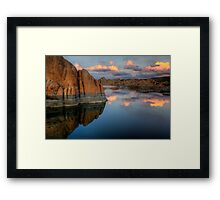 Cliffs and Clouds Framed Print