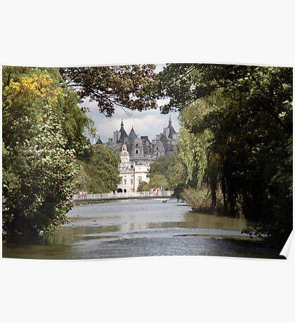 Lake at St James Park London Poster
