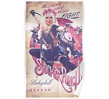 Retro Babydoll Flower Crown Poster