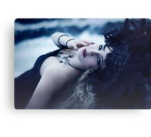 Beautiful Gothic Girl Print Canvas Print