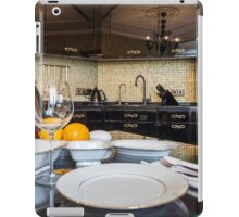 served dinner table iPad Case/Skin