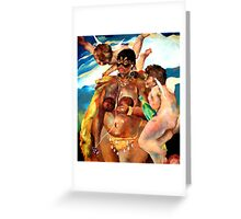 The Birth of Venus Hottentot Greeting Card