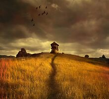 Lonely house on the hill by JBlaminsky