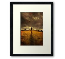 Lonely house on the hill Framed Print