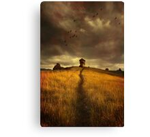 Lonely house on the hill Canvas Print