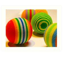 Balls of colour Art Print