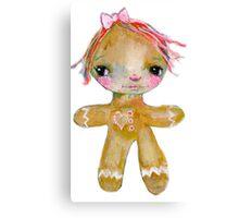 Gingerbread girl Canvas Print