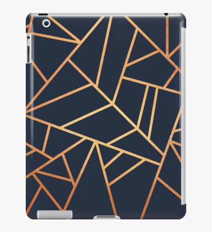 Copper and Midnight Navy iPad Case/Skin