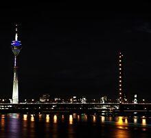 Rheinturm Nights by Andy Freer