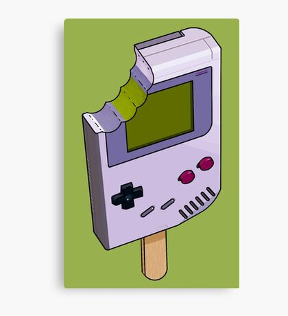 Game Boy Icicle Canvas Print