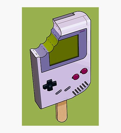 Game Boy Icicle Photographic Print