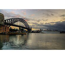 Morning Arrival - Sydney Harbour, Sydney Australia - The HDR Experience Photographic Print