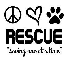 Rescue Saving One At A Time (black) Photographic Print