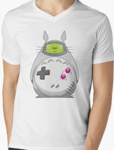 Game Boy Totoro Mens V-Neck T-Shirt
