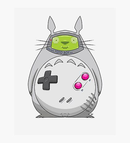 Game Boy Totoro Photographic Print