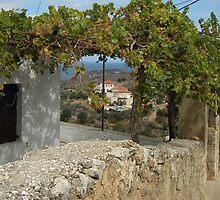 Quaint village of Kokkino Chorio, Crete. by Anne Sanders