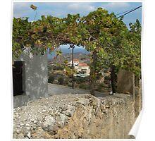 Quaint village of Kokkino Chorio, Crete. Poster