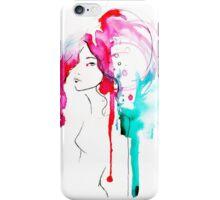 Watercolor Portrait Case 05 iPhone Case/Skin