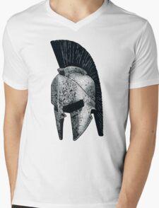 Spartan Helmet Mens V-Neck T-Shirt