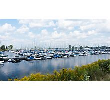 Docked boats in the harbour Photographic Print