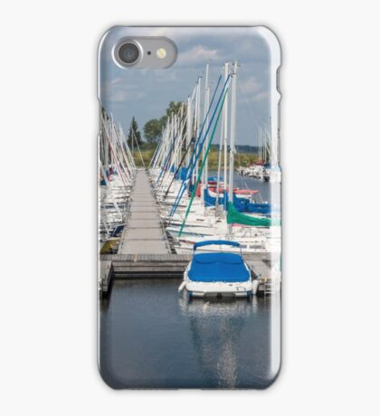 Docked boats in the harbour iPhone Case/Skin